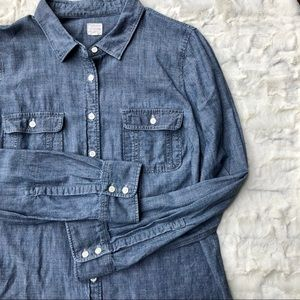 J.Crew Factory • Perfect Shirt 2-Pocket Chambray